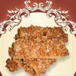 Rurki karmelowe z orzechem karmelizowanym