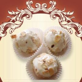 Trufelki z białej czekolady