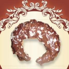 Kruche rogale z musem czekoladowym