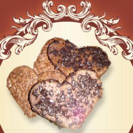 Kruche czekoladowe serca