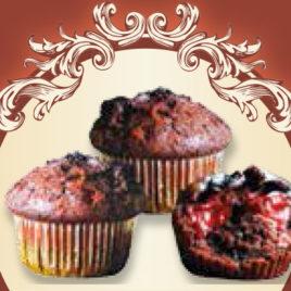 Muffiny czekoladowe z wiśnią